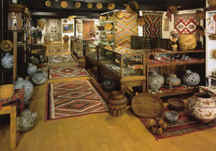 The front gallery at Len Wood's Indian Territory gallery, Laguna Beach, California.
